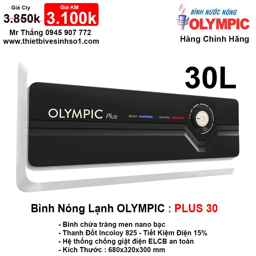 Bình Nóng Lạnh Olympic PLUS 30