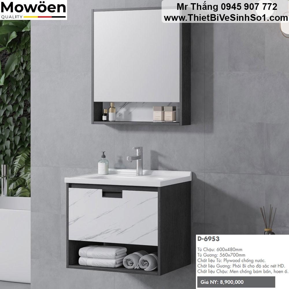 Bộ Tủ Chậu Mowoen D6953
