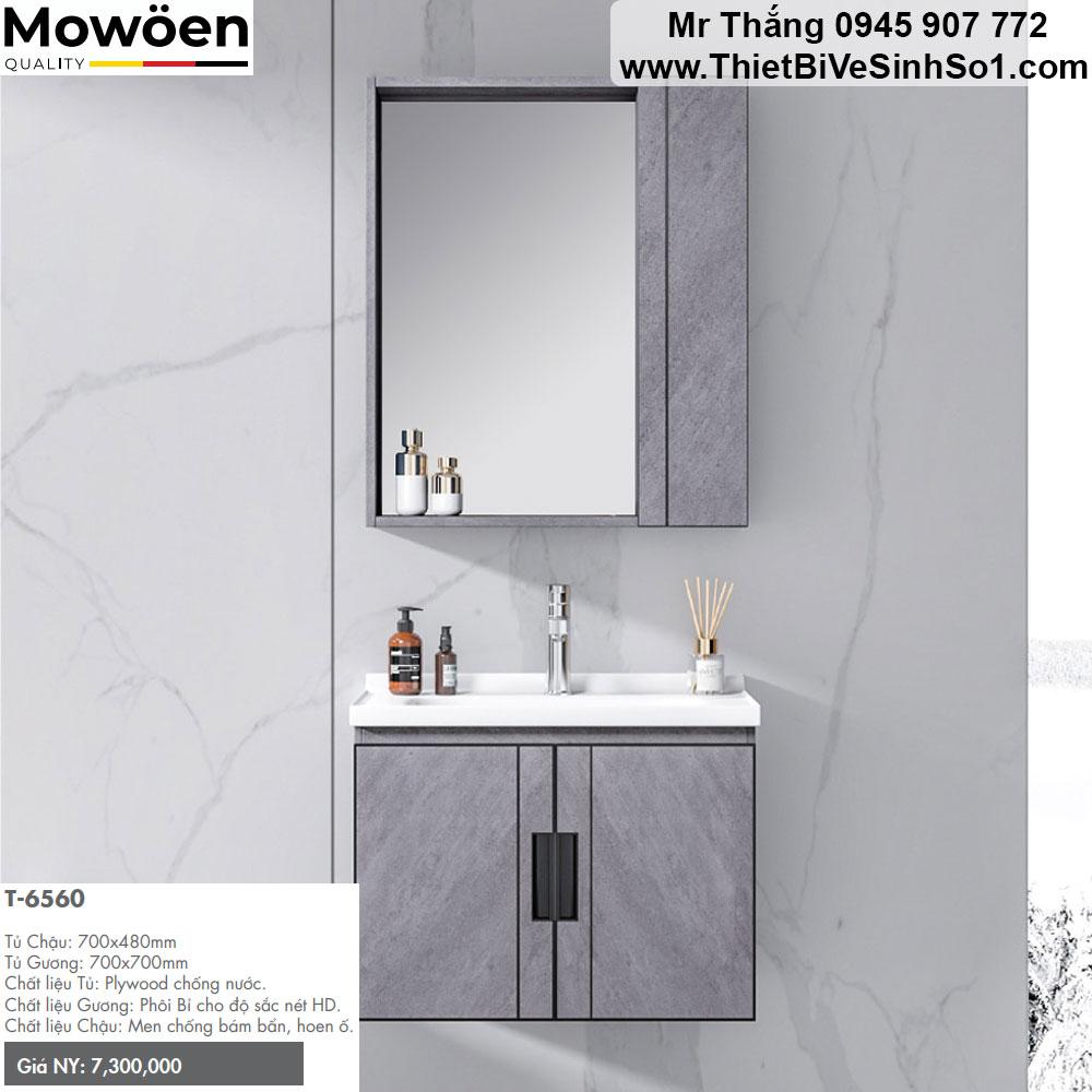 Bộ Tủ Chậu Mowoen T6560
