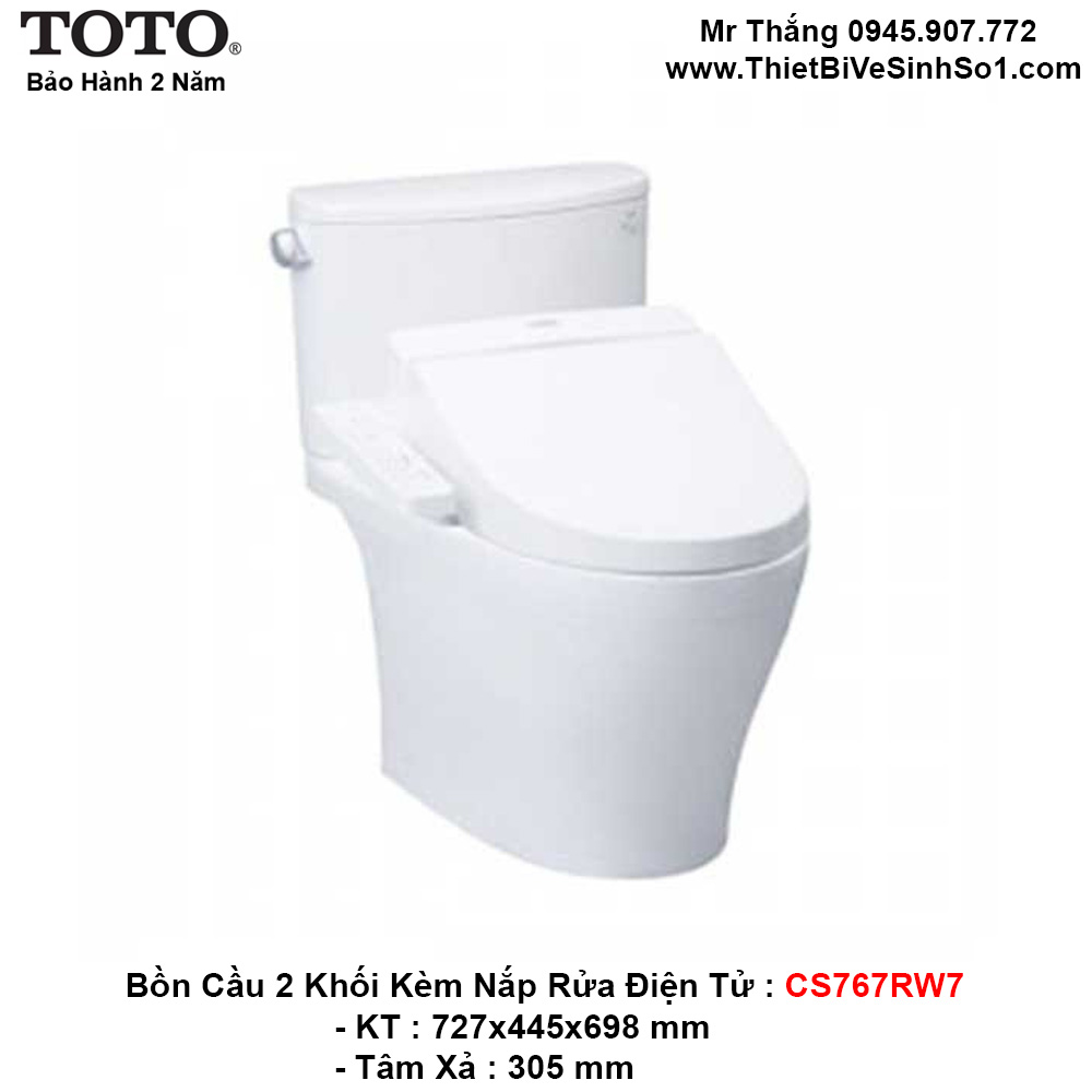 Bồn Cầu Điện Tử TOTO CS767RW7