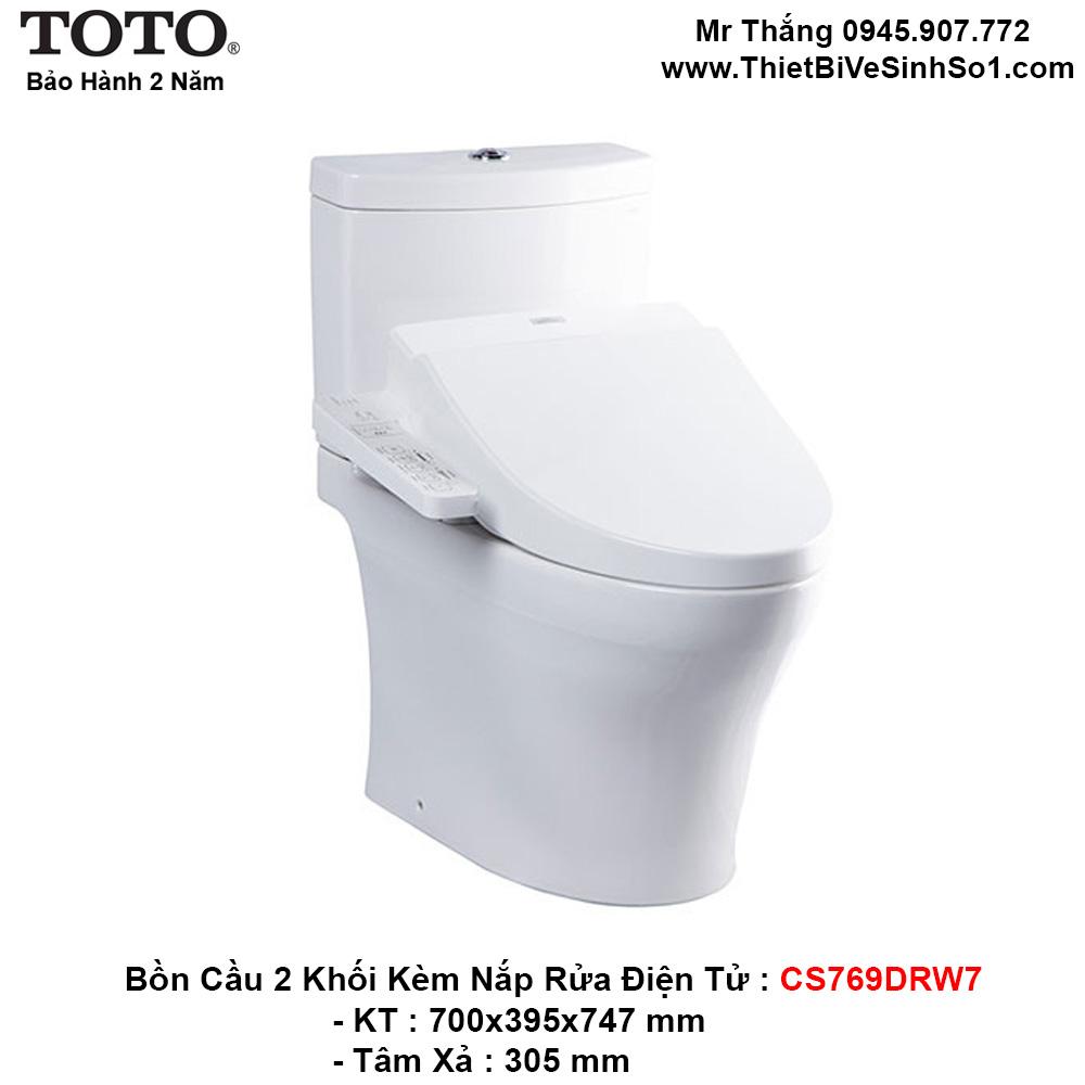 Bồn Cầu Điện Tử TOTO CS769DRW7