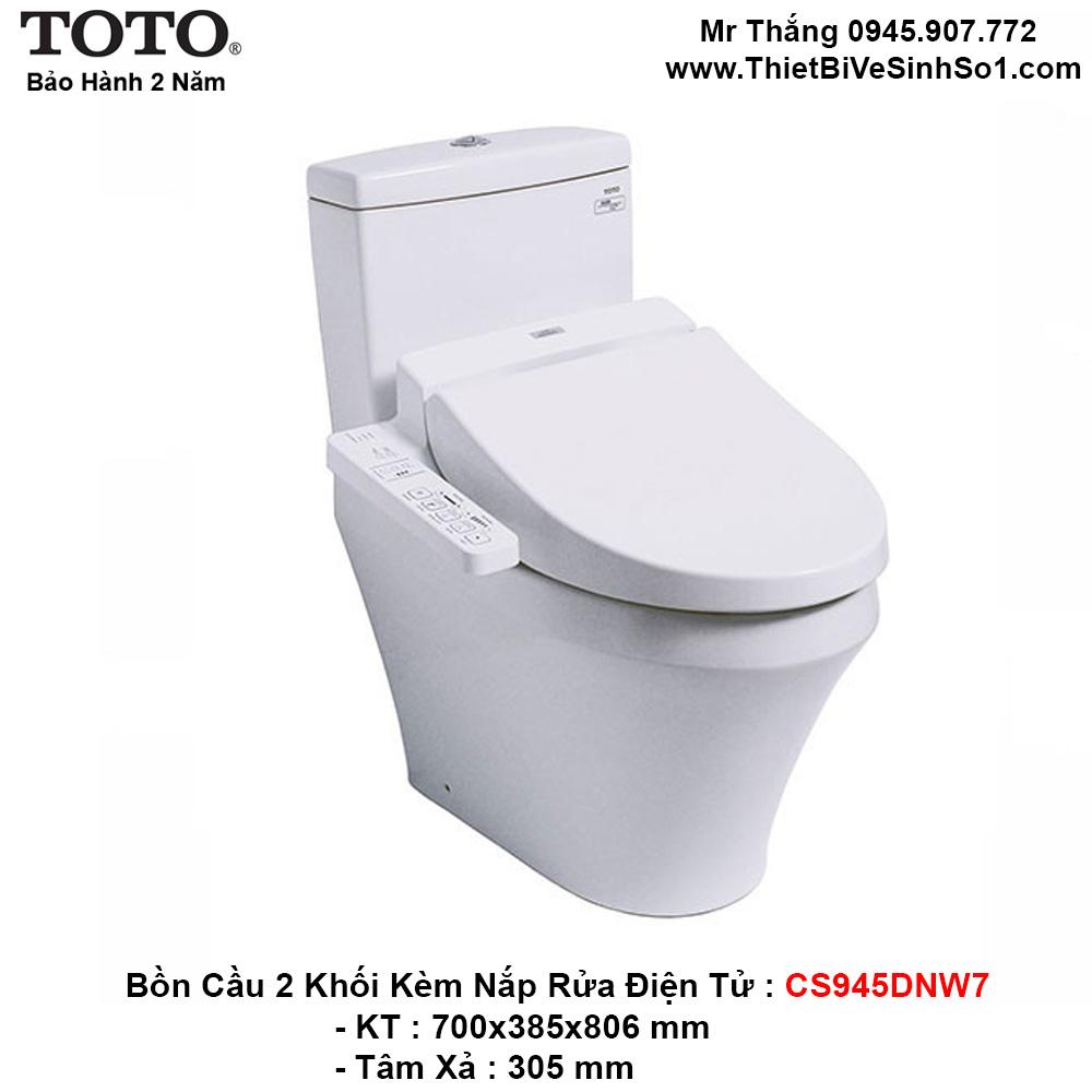Bồn Cầu Điện Tử TOTO CS945DNW7