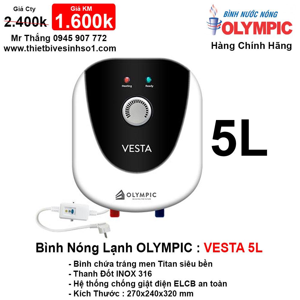 Bình Nóng Lạnh Olympic 5L Vesta