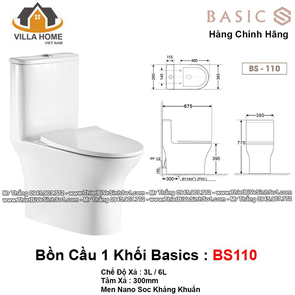 Bồn Cầu 1 Khối Basics BS110