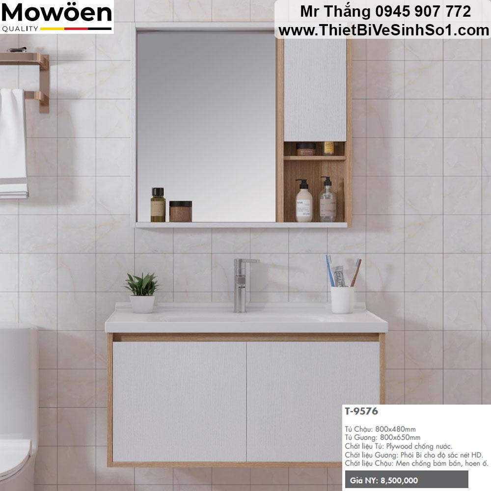 Bộ Tủ Chậu Mowoen T9576