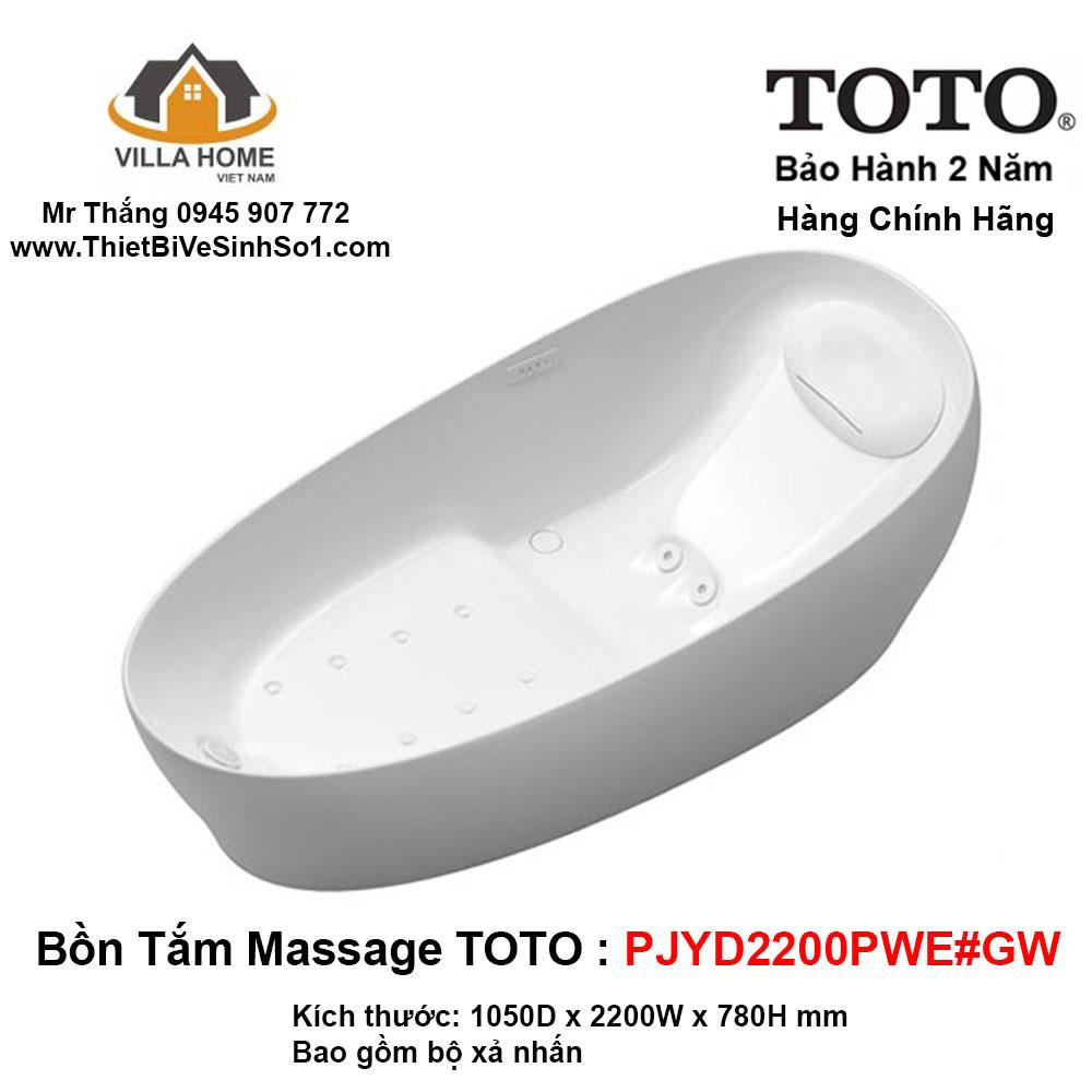Bồn Tắm TOTO PJYD2200PWE#GW