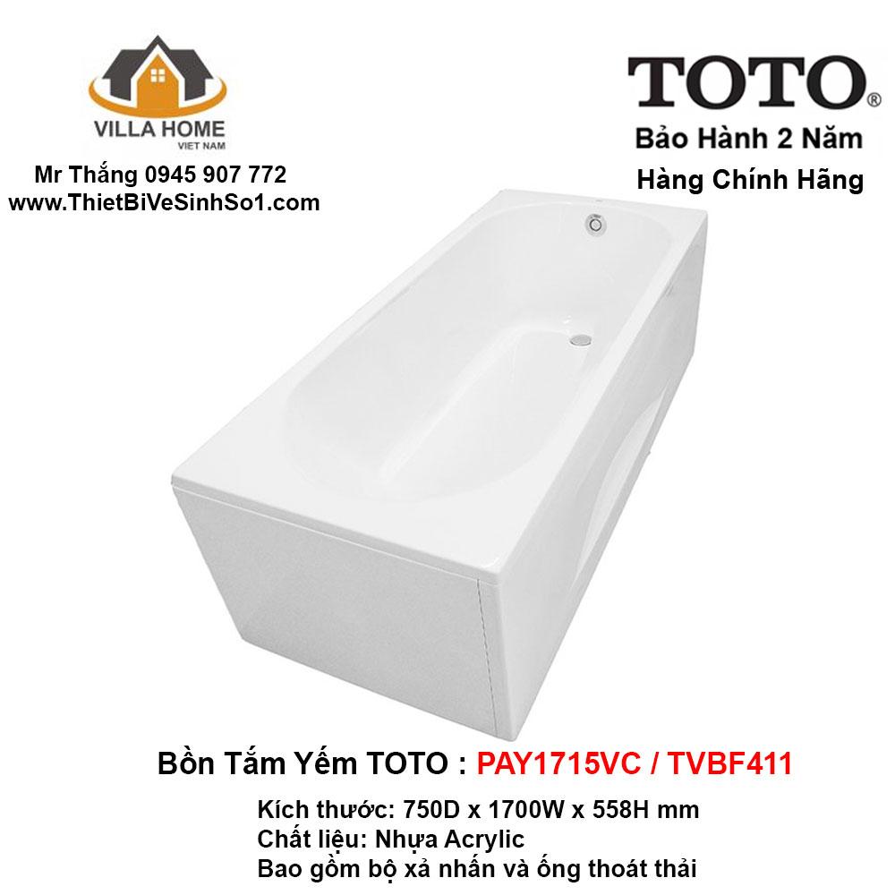 Bồn Tắm TOTO PAY1715VC-TVBF411