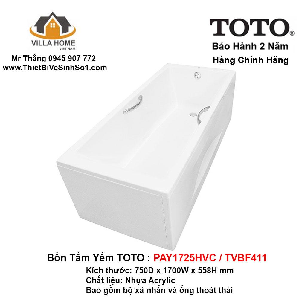 Bồn Tắm TOTO PAY1725HVC-TVBF411