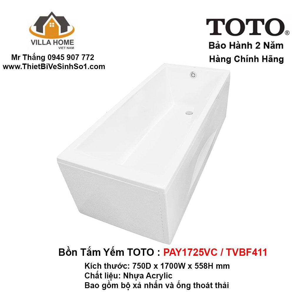 Bồn Tắm TOTO PAY1725VC-TVBF411