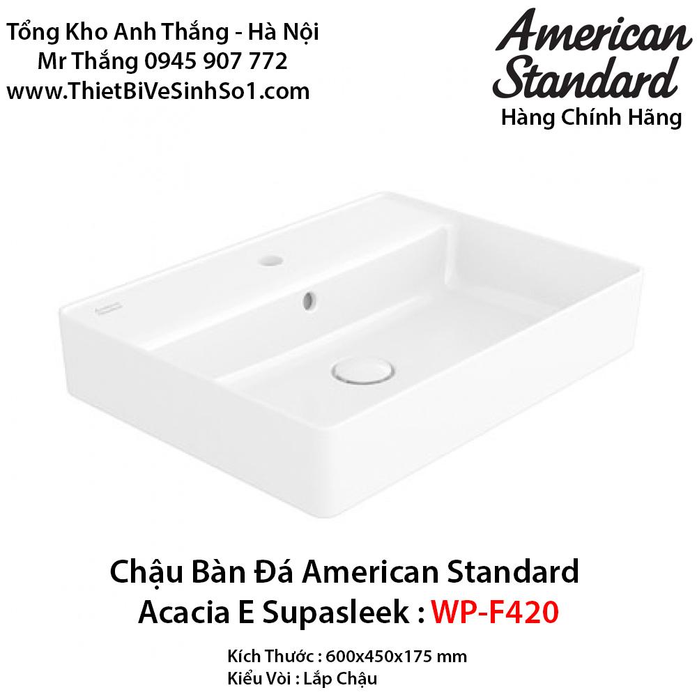 Chậu Rửa Lavabo Bàn Đá American Standard WP-F420