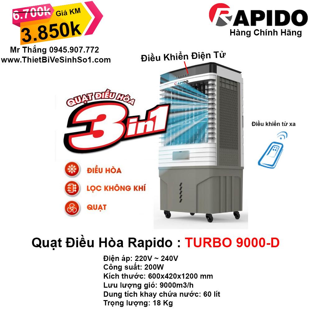 Máy Làm Mát RAPIDO TURBO 9000-D