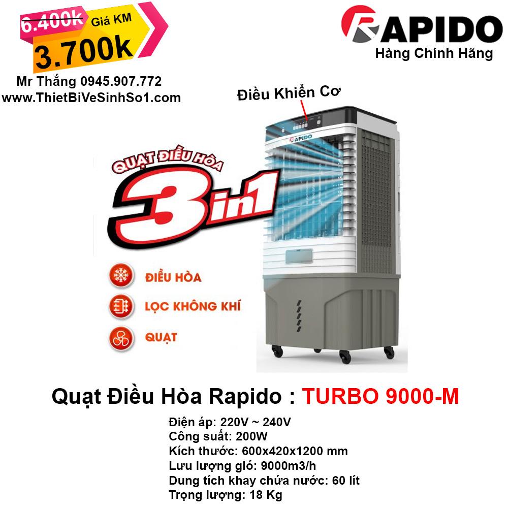 Máy Làm Mát RAPIDO TURBO 9000-M