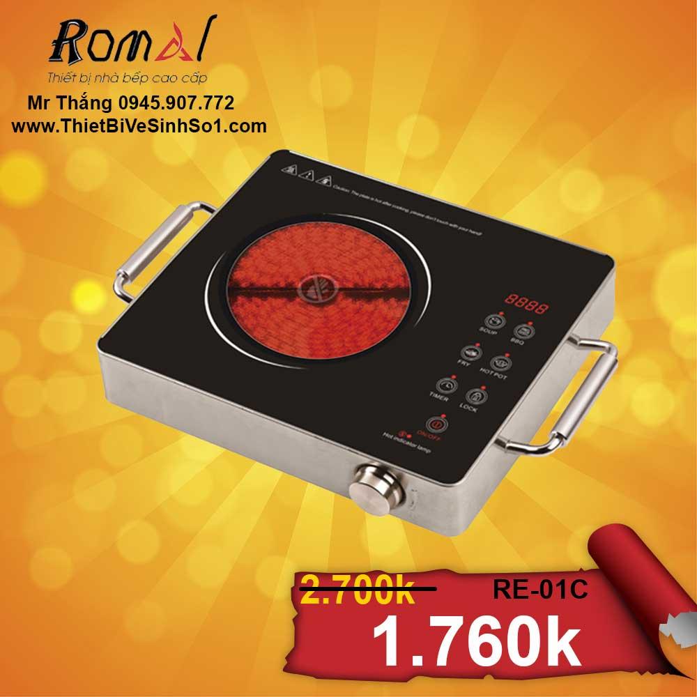 BẾP HỒNG NGOẠI ROMAL RE-01C