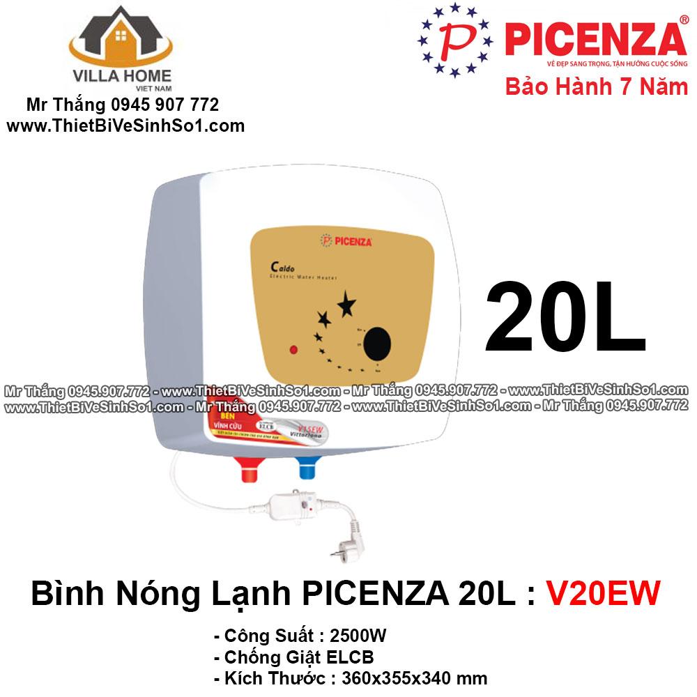 Bình Nóng Lạnh PICENZA 20L V20EW