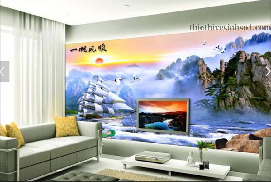Gạch Tranh Thuận Buồm Xuôi Gió BG014